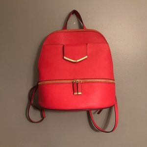 Calvin Klein Watermelon Saffiano Leather Backpack